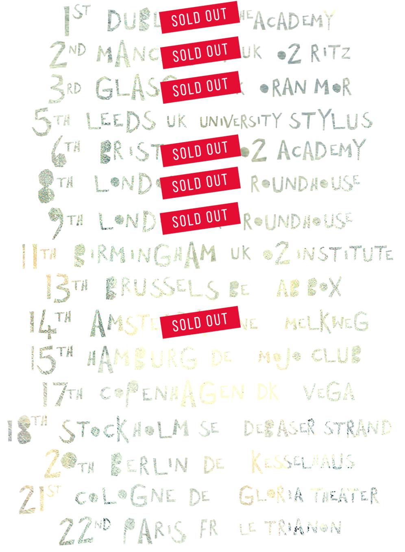 EU Tour Dates List